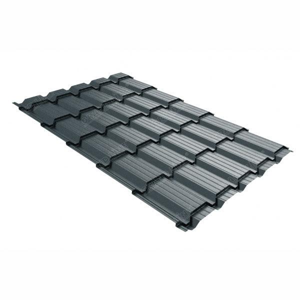 Металлочерепица Grand Line квадро профи 0.45 Drap RAL 7016 антрацитово-серый