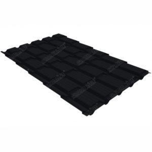 Металлочерепица Grand Line квадро профи 0.45 Drap RAL 9005 черный