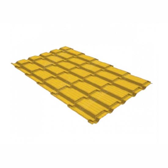 Металлочерепица Grand Line квадро профи 0,45 PE RAL 1018 цинково-желтый