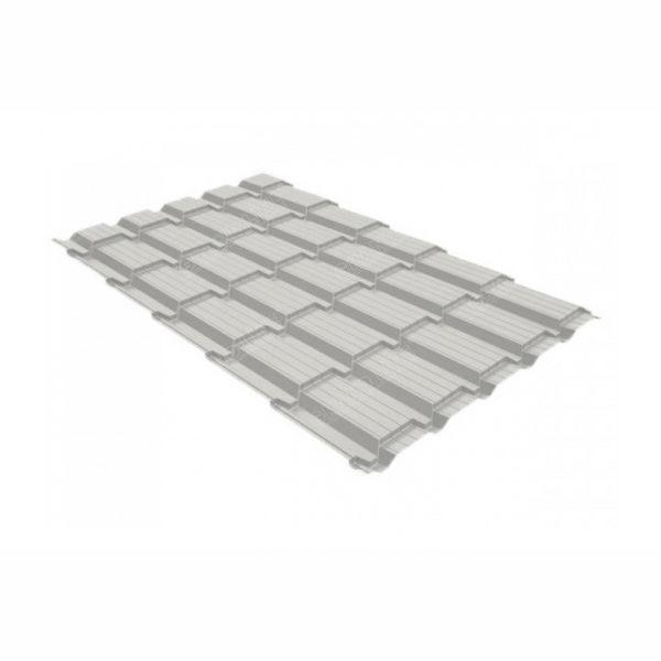 Металлочерепица квадро профи 0,45 PE RAL 9002 Светло-серый