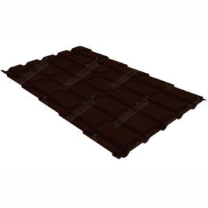 Металлочерепица Grand Line квадро профи 0.5 Atlas RR 32 темно-коричневый