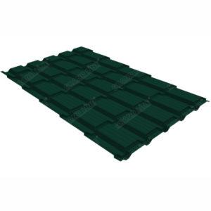 Металлочерепица Grand Line квадро профи 0.5 Quarzit RAL 6005 зеленый мох