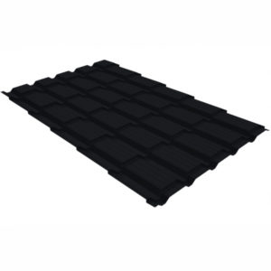 Металлочерепица Grand Line квадро профи 0.5 Quarzit lite RAL 9005 черный