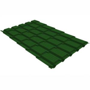 Металлочерепица Grand Line квадро профи 0.5 Satin RAL 6002 лиственно-зеленый