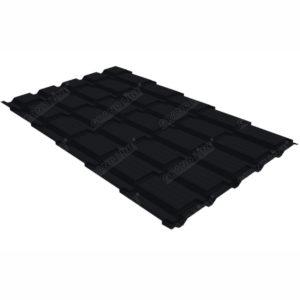 Металлочерепица Grand Line квадро профи 0.5 Velur20 RAL 9005 черный