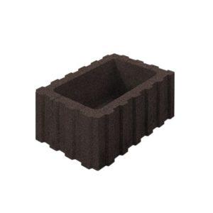 Цветочница бетонная ВЫБОР 1РФ.60.25.40 600*250*400 Стандарт гладкая Коричневый