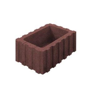 Цветочница бетонная ВЫБОР 1РФ.60.25.40 600*250*400 Стандарт гладкая Красный