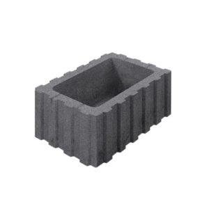 Цветочница бетонная ВЫБОР 1РФ.60.25.40 600*250*400 Стандарт гладкая Серый