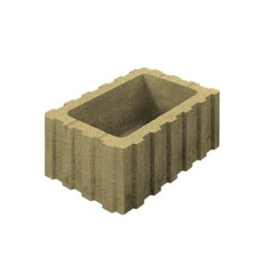 Цветочница бетонная ВЫБОР 1РФ.60.25.40 600*250*400 Стандарт гладкая Желтый
