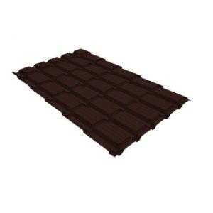 Металлочерепица квадро профи 0.4 PE RAL Шоколад RAL 8017