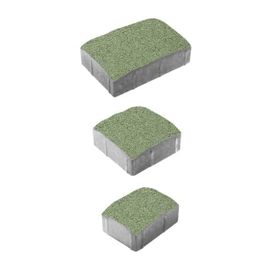 Тротуарные плиты ВЫБОР Гранит УРИКО А.1.УР.4 Зеленый