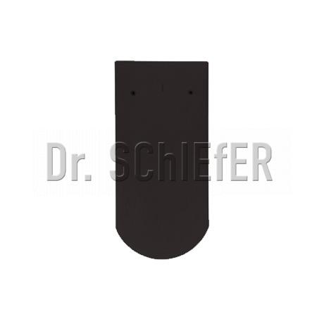 Керамическая рядовая черепица Meyer-Holsen Biber ангоб интенсивно-черный