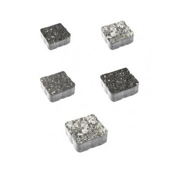 Тротуарные плиты ВЫБОР Листопад гладкий АНТИК Б.3.А.6 Антрацит- комплект из 5 плит