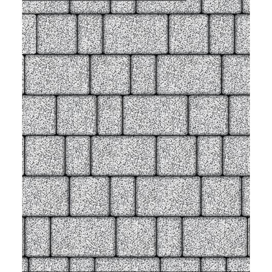 Тротуарная плитка ВЫБОР Стоунмикс СТАРЫЙ ГОРОД Б.1.Фсм.6 Бело-черный