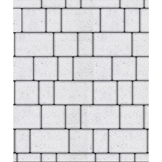 Тротуарная плитка ВЫБОР Стоунмикс СТАРЫЙ ГОРОД Б.1.Фсм.6 Белый