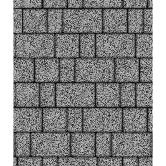 Тротуарная плитка ВЫБОР Стоунмикс СТАРЫЙ ГОРОД Б.1.Фсм.6 Серый с черным