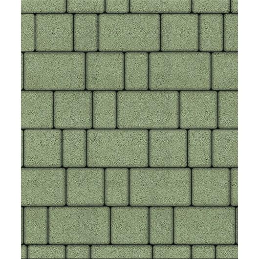Тротуарная плитка ВЫБОР Стандарт СТАРЫЙ ГОРОД Б.1.Фсм.8 Зелёный