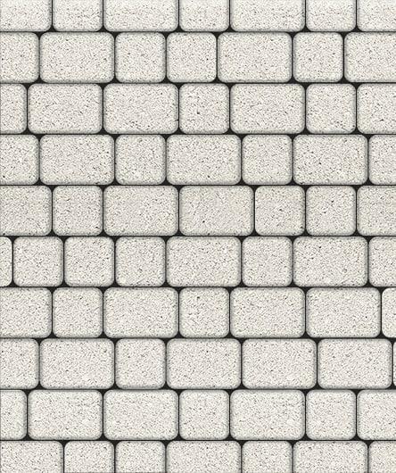 Тротуарная плитка ВЫБОР Стандарт КЛАССИКО Б.1.КО.6 М Белый