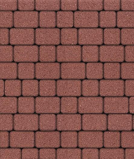 Тротуарная плитка ВЫБОР Стандарт КЛАССИКО Б.1.КО.6 М Красный