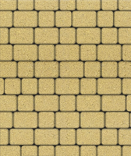 Тротуарная плитка ВЫБОР Стандарт КЛАССИКО Б.1.КО.6 М Желтый