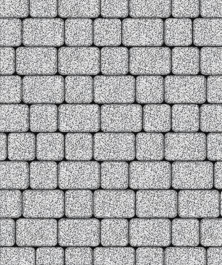 Тротуарная плитка ВЫБОР Стоунмикс КЛАССИКО Б.1.КО.6 М Бело-черный