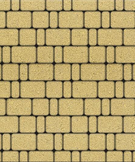 Тротуарная плитка ВЫБОР Стандарт КЛАССИКО Б.1.КО.6 Желтый