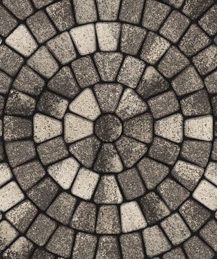 Тротуарная плитка ВЫБОР Листопад гладкий КЛАССИКО Б.2.КО.6 Антрацит