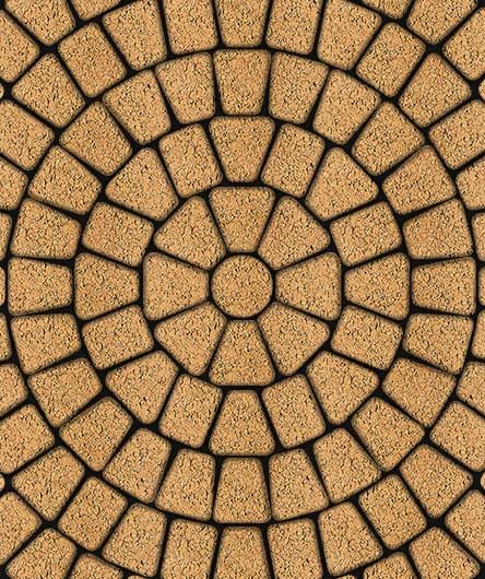 Тротуарная плитка ВЫБОР Листопад гладкий КЛАССИКО Б.2.КО.6 Сахара