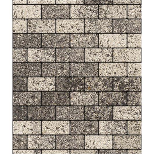 Тротуарные плиты ВЫБОР Листопад гладкий ЛА-ЛИНИЯ Б.2.П.6 Антрацит