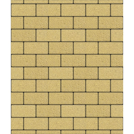 Тротуарные плиты ВЫБОР Стандарт ЛА-ЛИНИЯ Б.2.П.8 Желтый