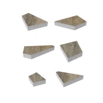Тротуарные плиты ВЫБОР Искусственный камень ОРИГАМИ Б.4.Фсм.8 Базальт- комплект из 6 плит
