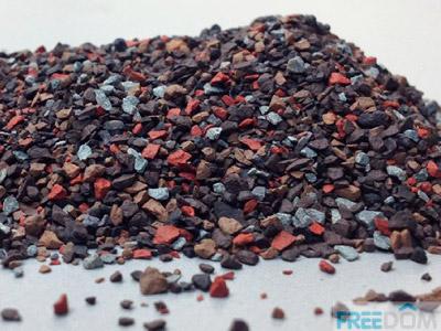 Базальтовый гранулят мягкой кровли