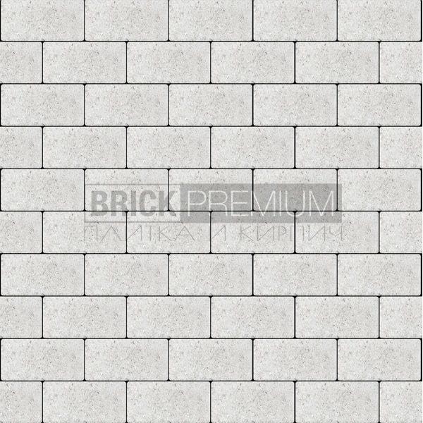 Тротуарная плитка Brick Premium Платцстоун Белый гладкая 65 мм