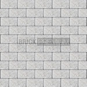 Тротуарная плитка Brick Premium Платцстоун Белый гранит 65 мм
