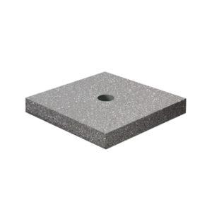 Ландшафтный элемент ВЫБОР ПОДСТАВКА-1 700*700*100 Бело-черный Мытый бетон