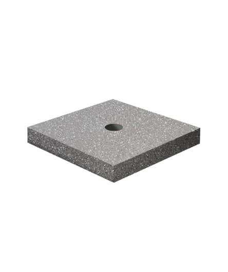Ландшафтный элемент ВЫБОР ПОДСТАВКА-2 500*500*100 Бело-черный Мытый бетон