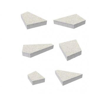Тротуарные плиты ВЫБОР Гранит ОРИГАМИ Б.4.Фсм.8 Белый- комплект из 6 плит