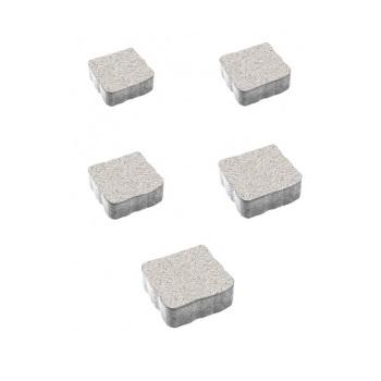 Тротуарные плиты ВЫБОР Стоунмикс АНТИК Б.3.А.6 Белый- комплект из 5 плит