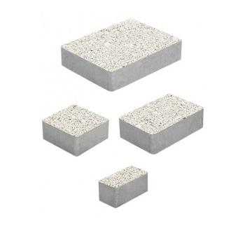 Тротуарные плиты ВЫБОР Гранит МЮНХЕН Б.2.Фсм.6 Белый- комплект из 4 плит