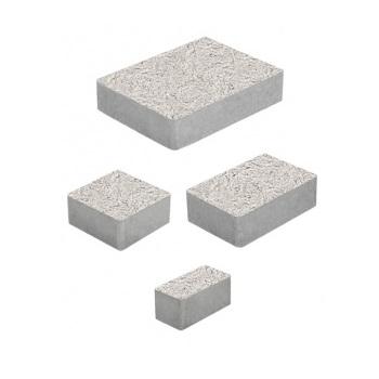 Тротуарные плиты ВЫБОР Стоунмикс МЮНХЕН Б.2.Фсм.6 Белый- комплект из 4 плит