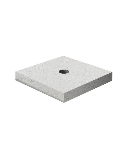 Ландшафтный элемент ВЫБОР ПОДСТАВКА-1 700*700*100 Белый Гранит