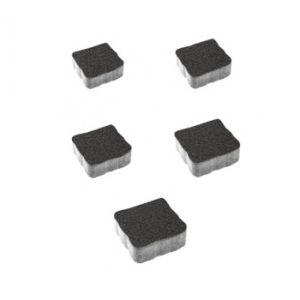 Тротуарные плиты ВЫБОР Стандарт АНТИК А.3.А.4 Черный - комплект из 5 плит