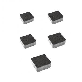 Тротуарные плиты ВЫБОР Стандарт АНТИК Б.3.А.6 Черный- комплект из 5 плит