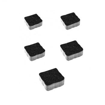 Тротуарные плиты ВЫБОР Стоунмикс АНТИК Б.3.А.6 Черный- комплект из 5 плит