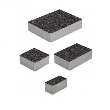 Тротуарные плиты ВЫБОР Стандарт МЮНХЕН Б.2.Фсм.6 Черный- комплект из 4 плит