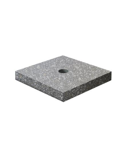 Ландшафтный элемент ВЫБОР ПОДСТАВКА-1 700*700*100 Черный Мозаичный бетон