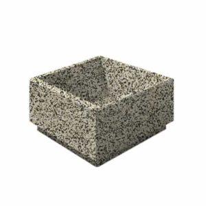 Цветочница бетонная ВЫБОР ЦВ-1 800*800*400 Бело-черный Мытый бетон