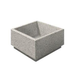 Цветочница бетонная ВЫБОР ЦВ-1 800*800*400 Белый Гранит