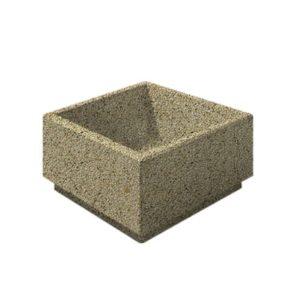 Цветочница бетонная ВЫБОР ЦВ-1 800*800*400 Медовый Мытый бетон