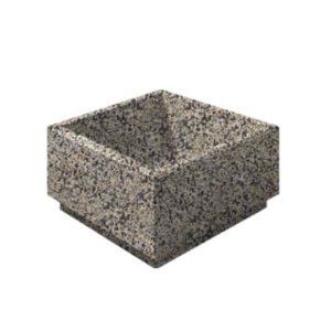 Цветочница бетонная ВЫБОР ЦВ-1 800*800*400 Серо-красный Мытый бетон